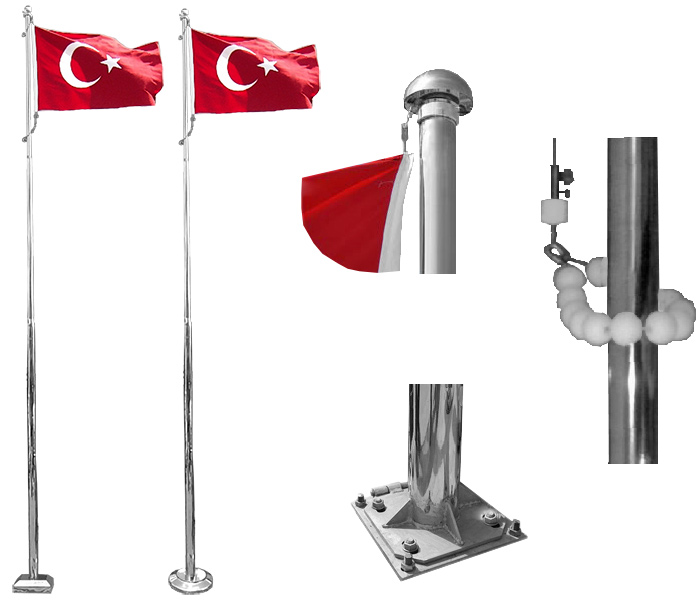 Bayrak Direği Paslanmaz Bayrak Direği
