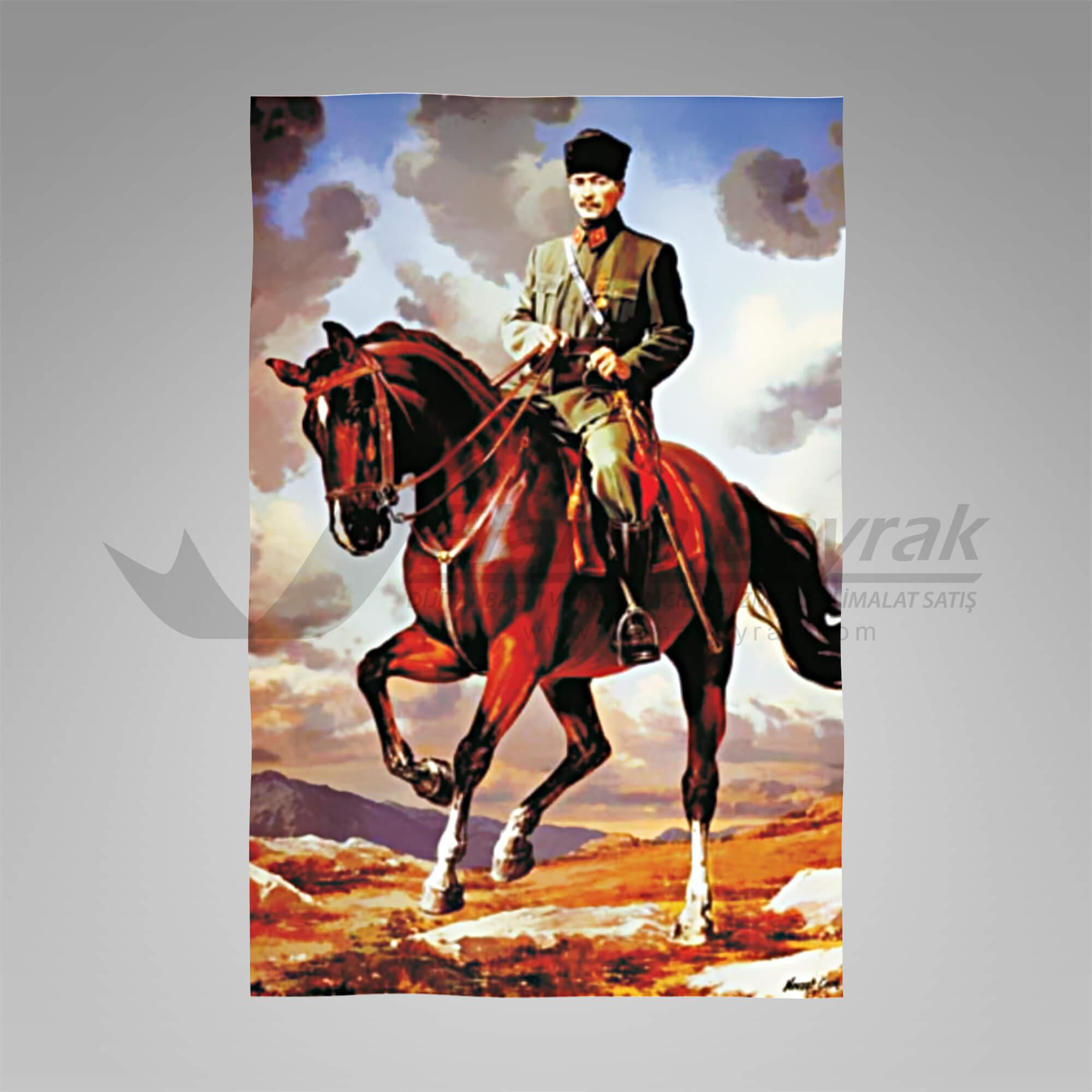 atatürk posteri kumaş Atatürk Posteri