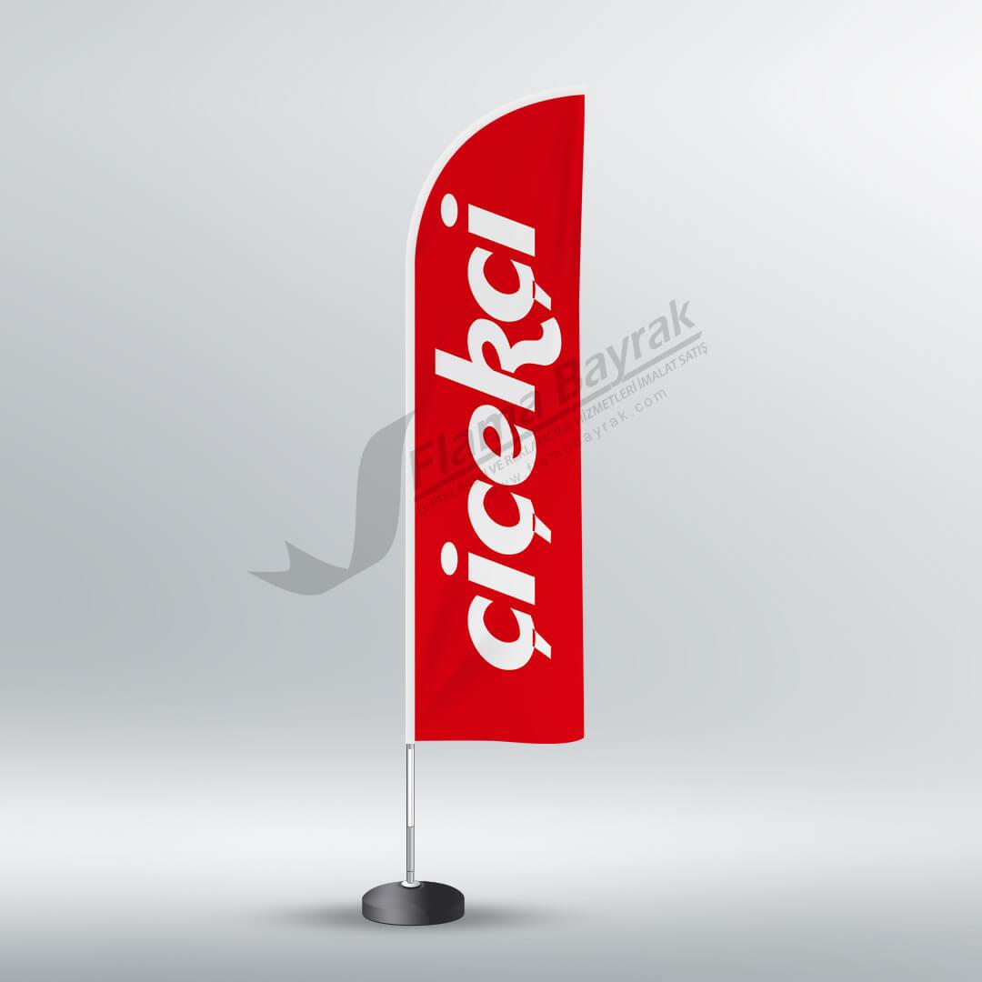 çiçeçi reklam bayrağı Reklam Bayrağı