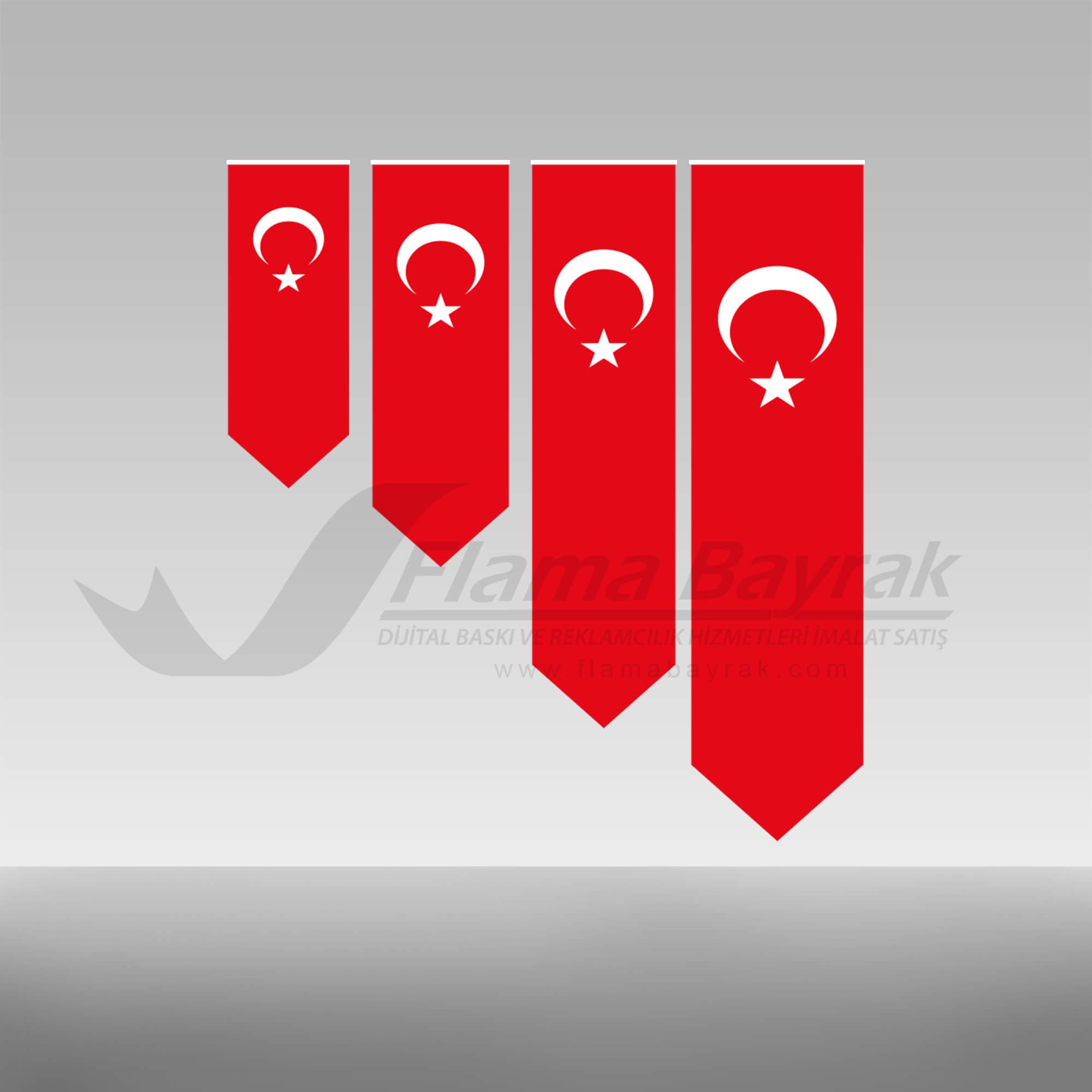 sivri uclu Türk Bayrağı Türk Bayrağı