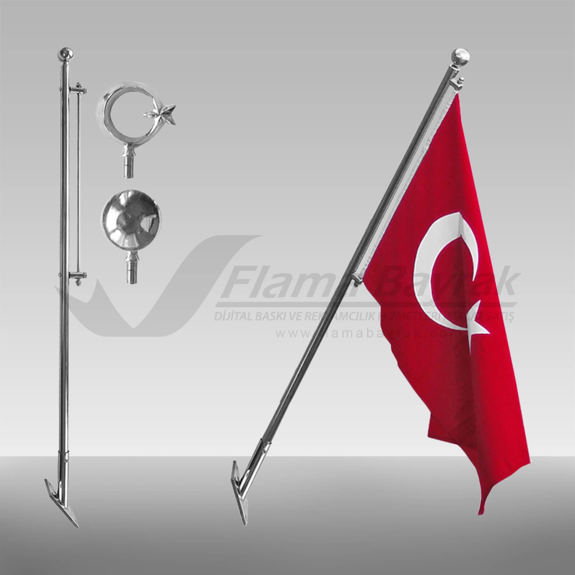 teleskopik bayrak direği Bayrak Direği