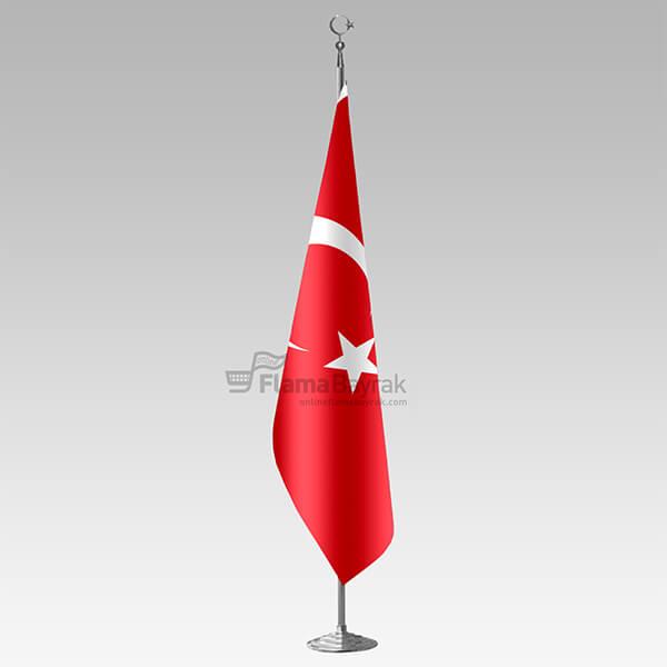 Krom Direkli Sacaksiz Turk Makam Bayragi Türk Bayrağı