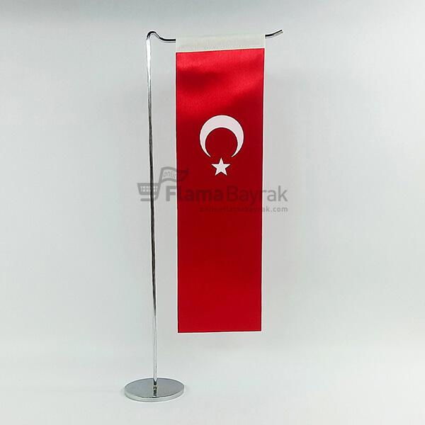 L Tipi Alti Duz Turk Masa Bayragi Türk Bayrağı