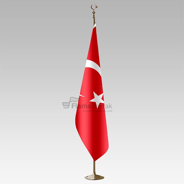 Sari Direkli Sacaksiz Turk Makam Bayragi Türk Bayrağı