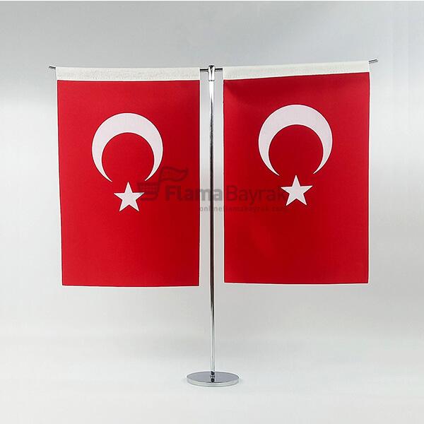 T Direkli 15x225 cm Turk Masa Bayragi Türk Bayrağı